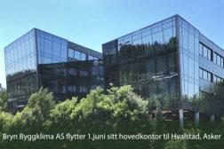 Bryn Byggklima AS flytter sitt hovedkontor